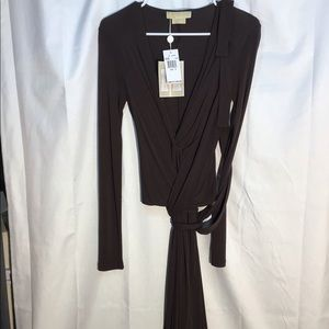 Michael Kors Coffee Rayon Evening Dress size 6